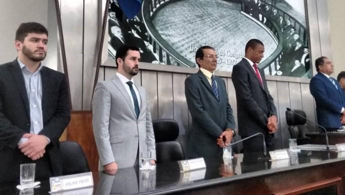 Dida é homenageado na Assembleia de Alagoas (Foto: DivulgaçãoALE)