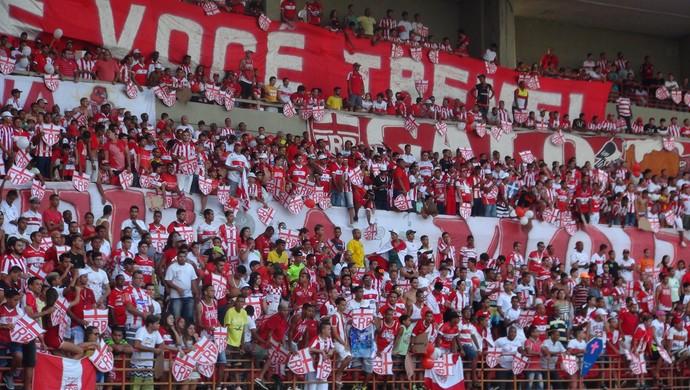 torcida CRB torcida (Foto: Viviane Leão/GloboEsporte.com)