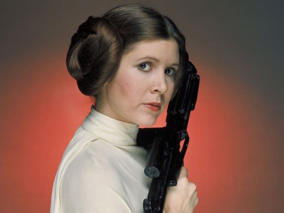Carrie Fisher interpretou a princea leia em Star wars (Foto: Divulgação)