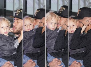 Neymar e o filho, Davi Lucca (Foto:  Paduardo e Thiago Duran/AgNews)