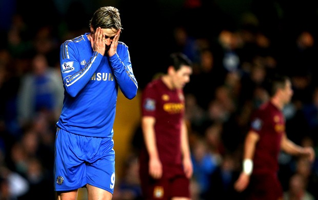 Fernando Torres na partida do Chelsea contra o Manchester City (Foto: Getty Images)