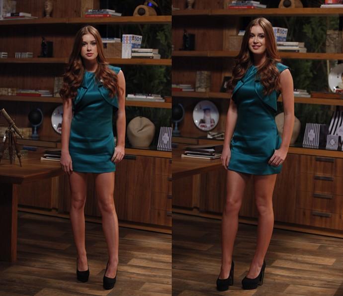 Eliza arrasa com look com sapatos Vizzano (Foto: Artur Meninea/Gshow)