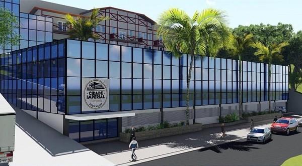 Ilustração de como ficará a fachada da fábrica da Cidade Imperial