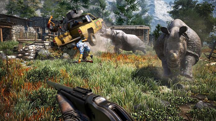Confrontos com animais estão ainda mais intensos em Far Cry 4 (Foto: Divulgação)