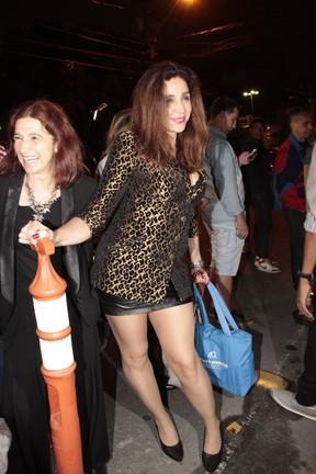 Marisa Orth em festa de Halloween no Rio (Foto: Isac Luz/ EGO)