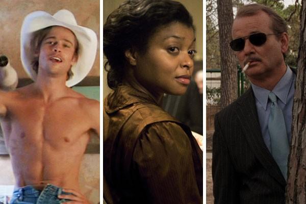 Bradd Pitt, Taraji P. Henson e Bill Murray já receberam salários considerados baixos para a classe dos grandes artistas de Hollywood (Foto: Reprodução)