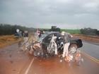Motorista morre em colisão entre duas caminhonetes em Três de Maio