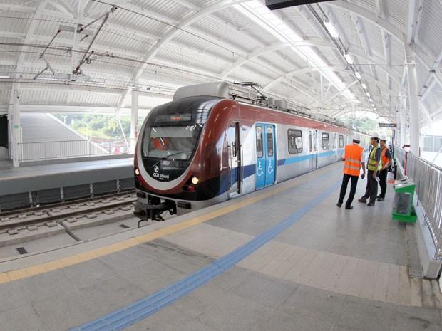 Após 14 anos em obras, metrô de Salvador começou a operar em junho (Foto: Manu Dias/GOVBA)