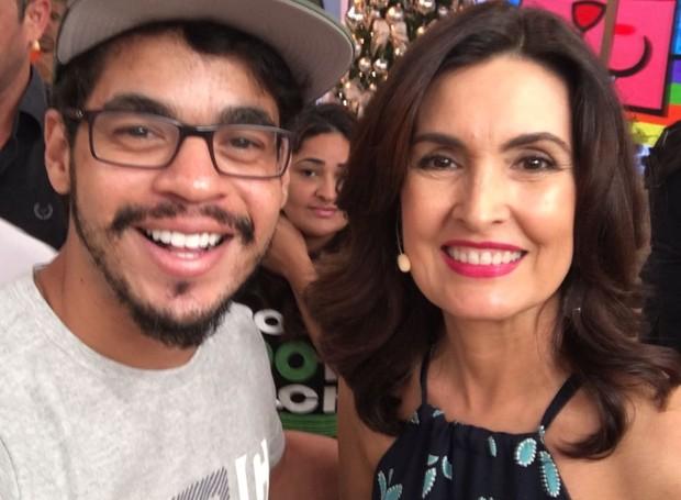 Leonardo Souza é plateia no programa Encontro com Fátima Bernardes desta quinta-feira (8) (Foto: Arquivo Pessoal)