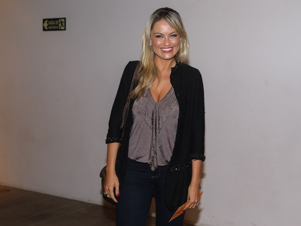 Ellen Rocche em pré-estreia de musical em São Paulo (Foto: Manuela Scarpa e Cláudio Augusto/ Foto Rio News)