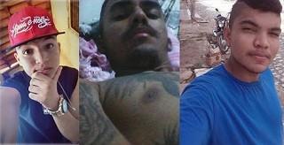 Kaynan Gomes, Eduardo Nunes e Israel Gomes foram baleados e morreram no local (Foto: Reprodução / Facebook)