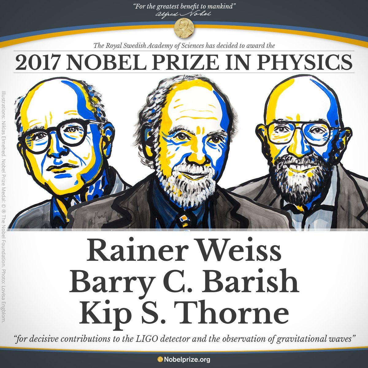 Nobel de Física de 2017 (Foto: Divulgação)
