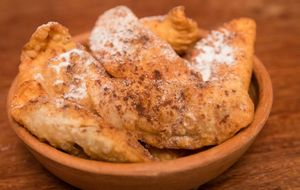 Azevias com doce de grão-de-bico