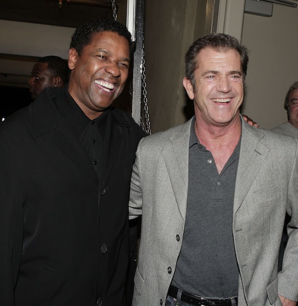 Os atores Denzel Washington e Mel Gibson (Foto: Getty Images)