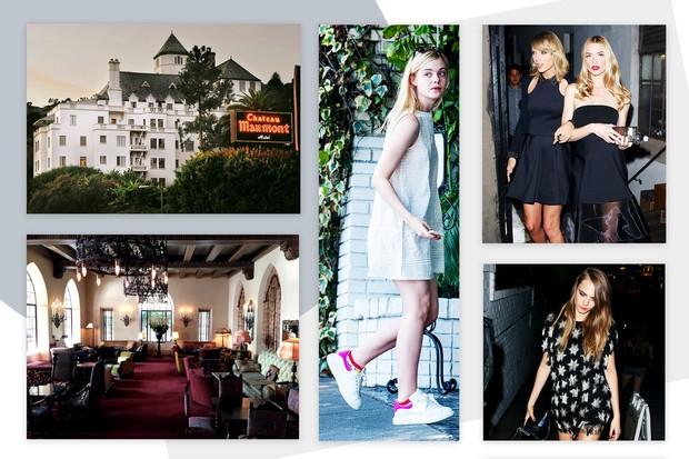 Todas amam o Chateau MArmont: Elle Fanning, Taylor Swift, Jamie King, Cara Delevingne... (Foto: Reprodução)