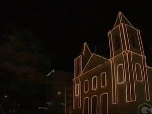 Decoração de Natal em Petrolina (Foto: Reprodução / TV Grande Rio)