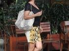 Grávida de três meses, Guilhermina Guinle almoça no Rio