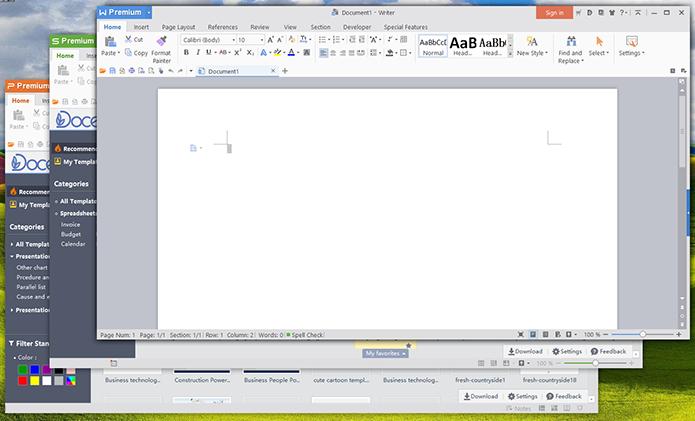 WPS Office tem interface mais atual e que lembra bastante o Office da Microsoft (Foto: Reprodução/Filipe Garrett)