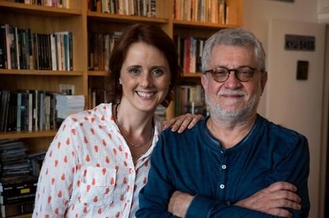 Bianca Ramoneda e Walter Carvalho (Foto: TV Globo)