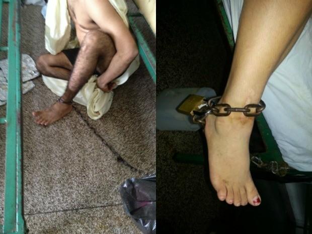 Comissão denuncía condição insalubre e superlotação em ala de psiquiatria de Hospital de Base, em Porto Velho (Foto: Comissão de Direitos Humanos da OAB/Divulgação)