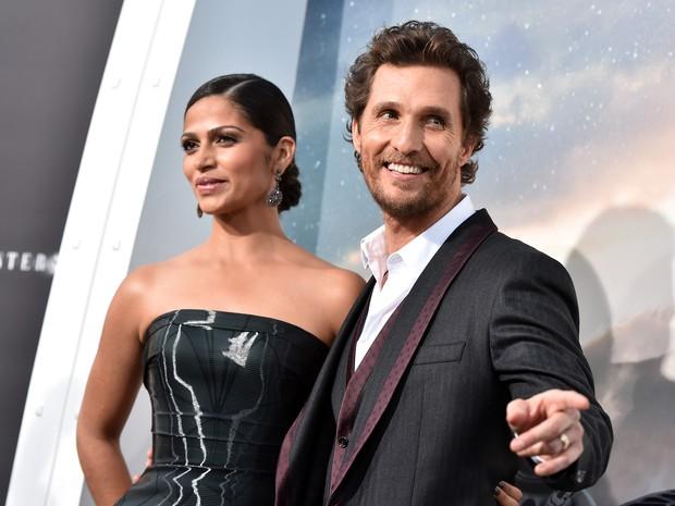 Camila Alves e Matthew McConaughey  em première de filme em Los Angeles, nos Estados Unidos (Foto: Kevin Winter/ Getty Images/ AFP)
