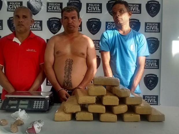 José Ribamar Macedo, José Maria  e Edelfran Nunes  foram autuados em flagrante em São Luís (Foto: Divulgação / Polícia Civil)