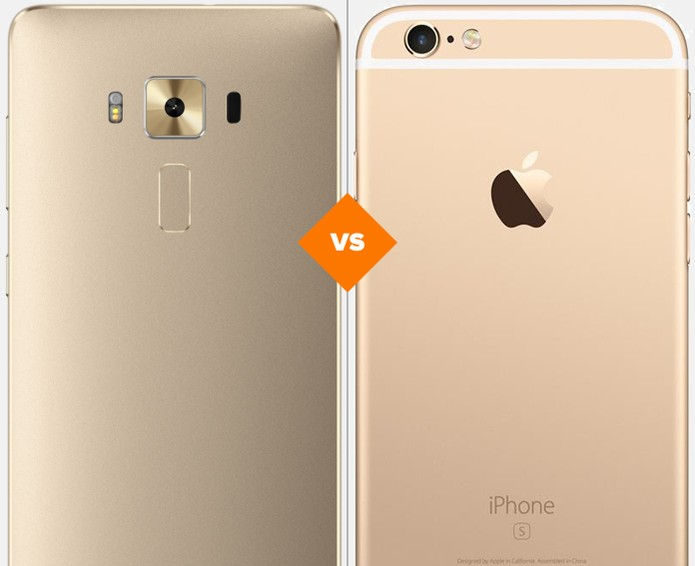Confira o comparativo entre o Zenfone 3 e o iPhone 6S (Foto: Arte/TechTudo)