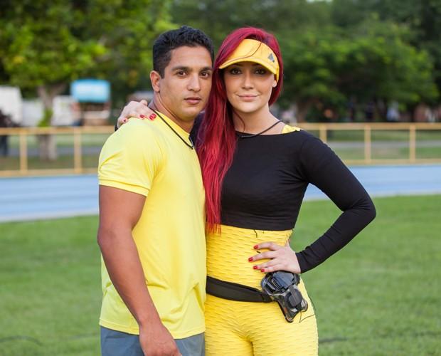 Josie Pessoa e o personal Renildo Amaral (Foto: Fabiano Battaglin/Gshow)