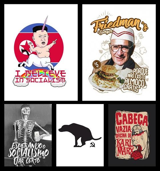 Camisetas de direita à venda on-line (Foto: Reprodução)