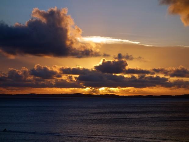 Pôr do sol da Contorno (Foto: Egi Santana/G1)
