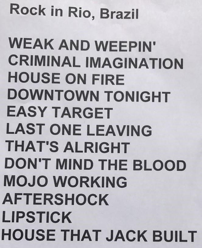 Setlist do segundo show do Palco Sunset nesta quinta (21) (Foto: Reproduo)