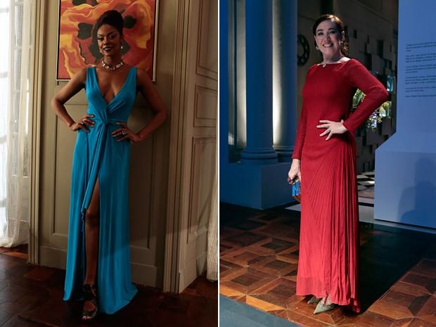 A elegância foi a marca dos vestidos longos de Juju e Marta (Foto: Arthur Meninea/TV Globo)