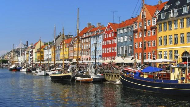 Copenhagen, na Dinamarca: país mais feliz, segundo relatório das Nações Unidas (Foto: Wikimedia Commons/Wikipedia)