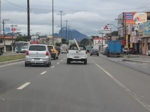 Todas as vias da Avenida Carlos Lindenberg estão liberadas (Foto: Divulgação/ Semcom Vila Velha)