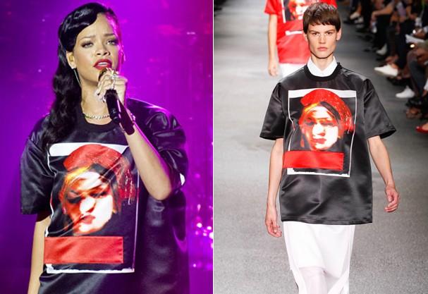 Rihanna, look masculino (Foto: Divulgação )