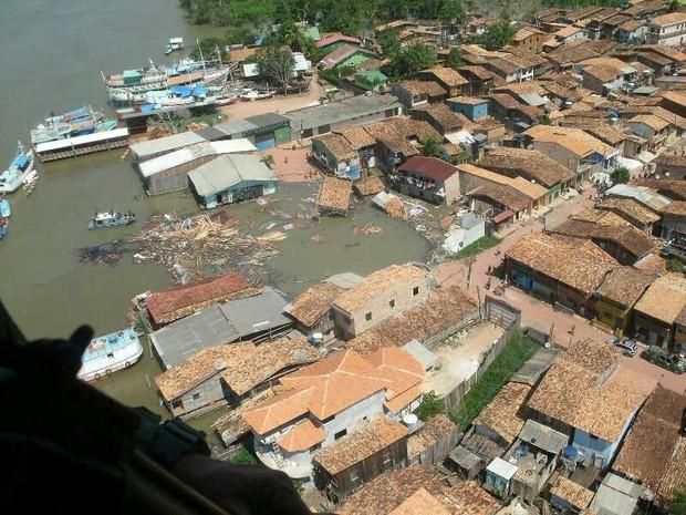 Vista Aérea Abaetetuba (Foto: Divulgação/Bombeiros)