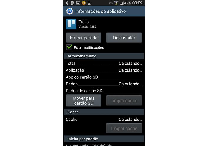 Transfira o aplicativo para o cartão (Foto: Reprodução/Thiago Barros)