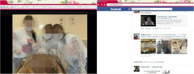 Alunos posam ao lado de cadáveres e postam fotos no facebook (Foto: Reprodução/Facebook)
