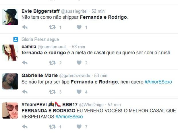 Internautas comentam participação de Rodrigo Hilbert no Amor e Sexo, comandando por Fernanda Lima (Foto: Twitter/ Reprodução)