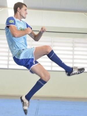 Atleta Charles Maioli, do Taekwondo (Foto: Edson Chagas/A Gazeta)