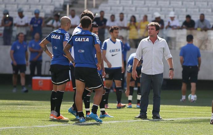 Arena Corinthians, treino Corinthians - Andres Sanchez (Foto: Marcos Ribolli)