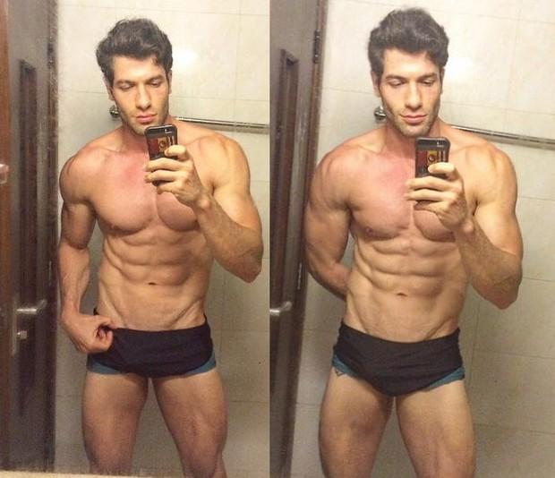 Ex-BBB Roni Mazon mostrando seus músculos: orgulho (Foto: Acervo pessoal)