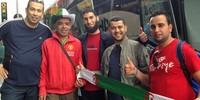 2 mil argelinos seguem a seleção pelo país (Ana Carolina Moreno/G1)