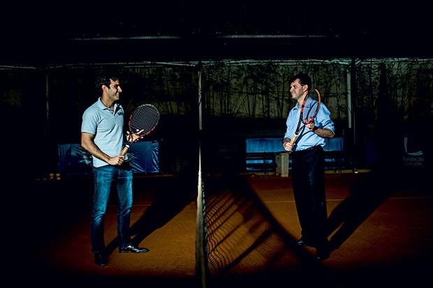 Cristiano Borrelli, diretor do Instituto Tênis (à esquerda), e Lucas Pinheiro Neto, consultor  da Falconi (Foto: Guilherme Zauith)