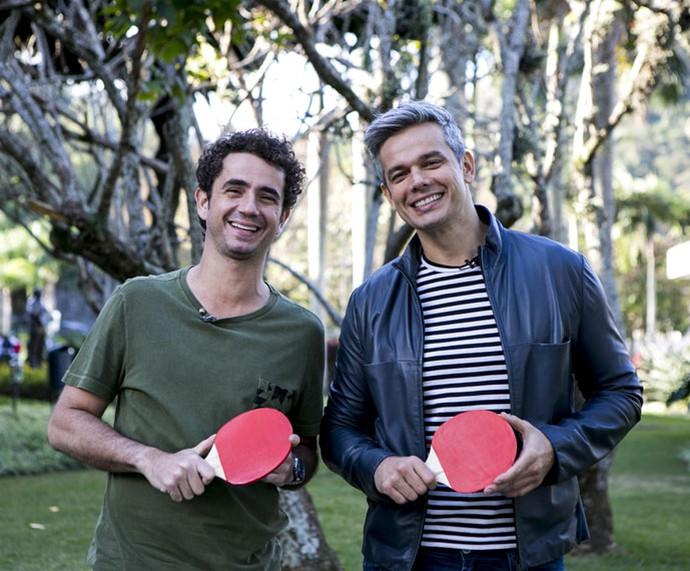 Felipe Andreoli e Otavino Costa: risada rola solta (Foto: Ellen Soares/Gshow)