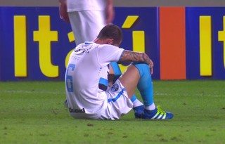 Fred, zagueiro, Grêmio, lesão, Atlético-MG (Foto: Reprodução / Premiere)