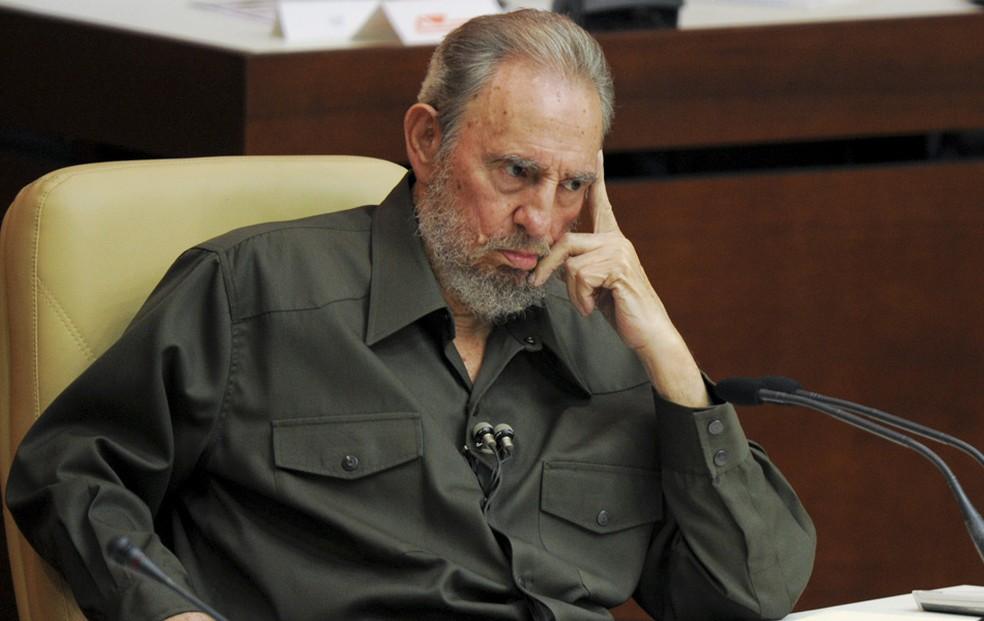 O ex-presidente cubano Fidel Castro em uma Assembleia Nacional em Havana, 7 de agosto de 2010. (Foto: Jose Goitia/The New York Times)