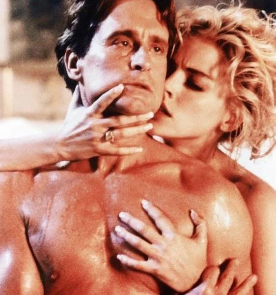 Cena de 'Instinto Selvagem', com Sharon Stone e Michael Douglas: sexo e violência