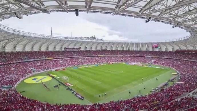 Beira-Rio, time-lapse, final, Gauchão, Inter, Juventude (Foto: Reprodução)