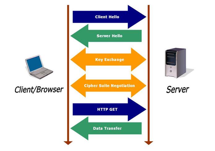 Gráfico mostra como funciona o protocolo SSL (Foto: Reprodução TrustWave)